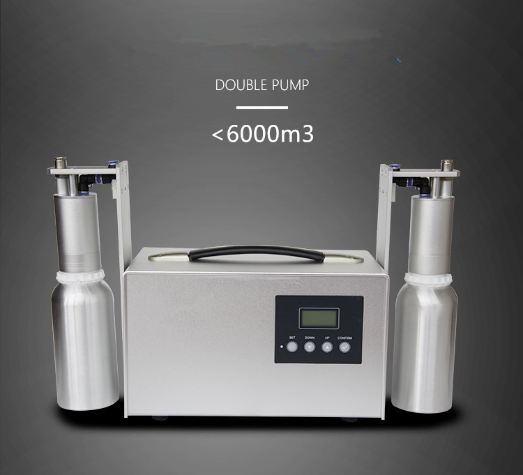 Automatic Aroma System Machine 1000ml Scent Delivery System Two Nozzles Aromatherapy Machine Essential Oil Dispenser