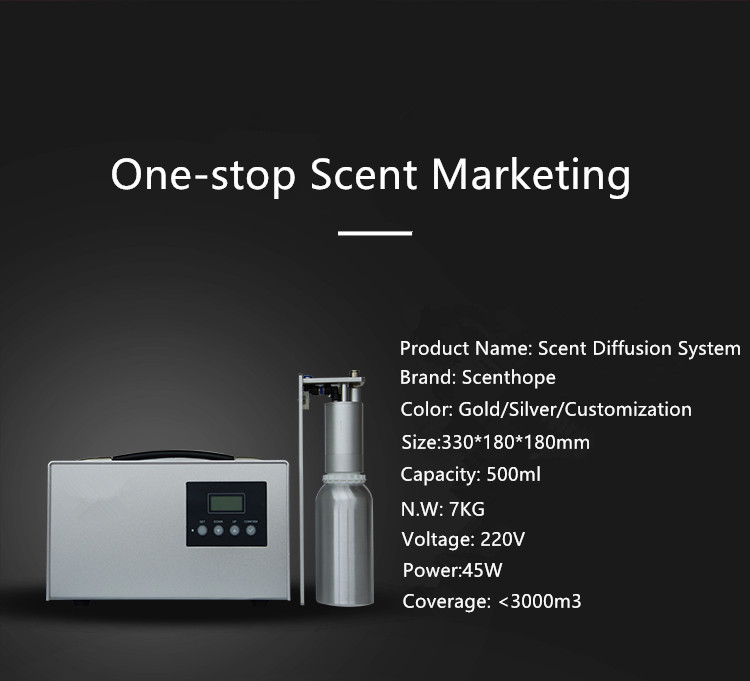 Five-star Hotel Commercial Aroma Diffusing Equipment Hvac Fragrance Delivery System Ultrasonic Aroma Machine Imported Stainless Nozzle